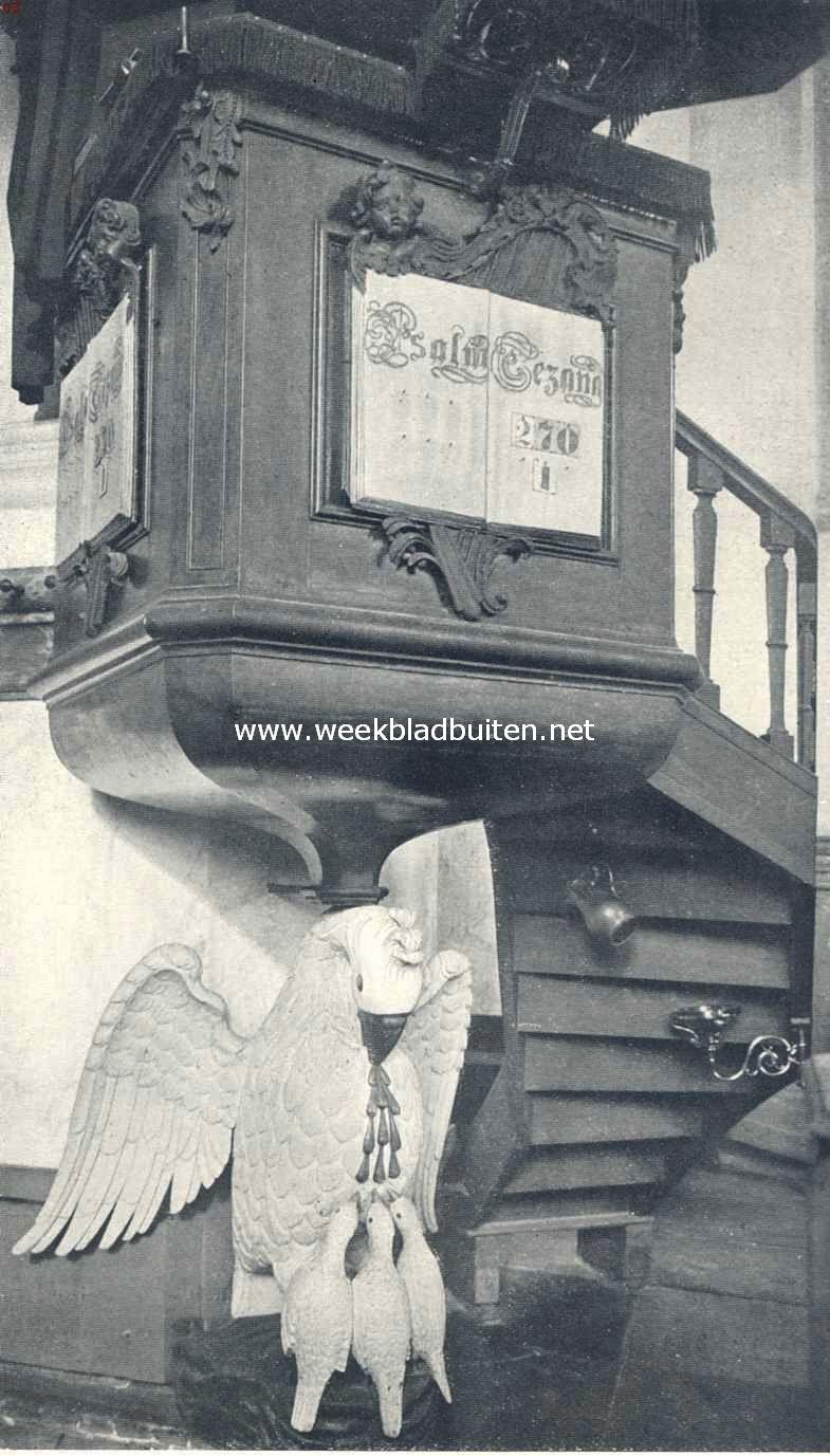 Preekstoel in de Ned. Herv. Kerk te Westzaan